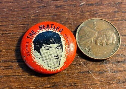 Original Beatles George Harrison Pinback Button Free Shipping