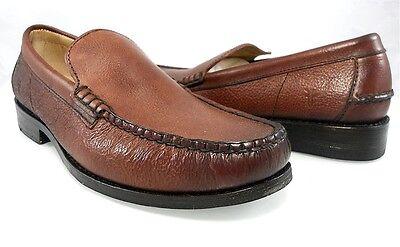 FRYE Douglas Venetian Hammered Dark Brown Leather Loafers Shoe 87596 3487596 DBN