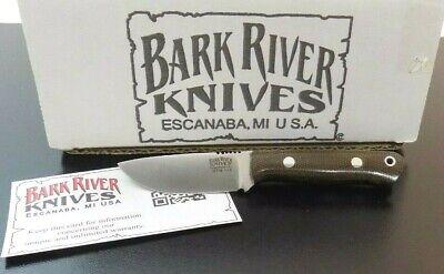 BARK RIVER USA MICRO BRAVO GREEN CANVAS MICRO FIXED BLADE KNIFE;NR