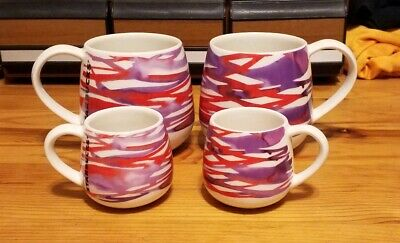 Starbucks Ceramic Mug Set of 4 12 Oz and 3 Oz Coffee Espresso Mugs 2016