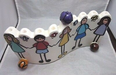 Rosen Horowitz signed art pottery Children Menorah