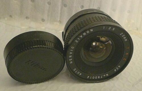 Hervic Zivnon Auto 1:3.5 23mm T.M.C. 62mm Lens for Nikon - Japan - RARE