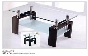 TEMPERED GLASS COFFEE TABLE FOR 99$ ONLY. WE HAVE BEDROOM SETS,COUCHES,SECTIONAL,BUNK BEDS MANY MORE!!!!!