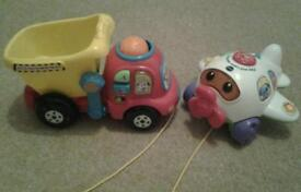 Vtech Put and Take Dumper Truck and Play and Learn Aeroplane