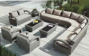 Highest QUALITY Wicker Rattan SOFA and TABLE sets! NEW Arrival!