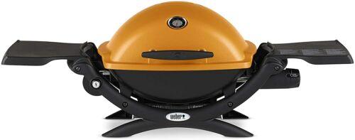 Weber Q 1200 Portable Tabletop Propane Gas BBQ Grill Quick Orange