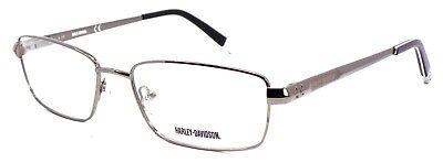 Harley Davidson HD0700 GUN Men's Eyeglasses LARGE 56-17-145 Shiny Gunmetal +Case