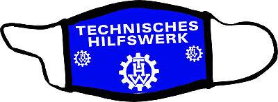 Techniches Hilfswerk THW Kennung im Einsatz und ausatmungs Schutzmaske 3 lagig