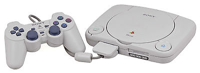 PS1 PSONE Sony Playstation 1 Slim Console - Tested & Working - Inc Memory Card