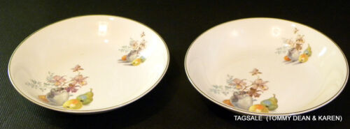 Nice 2 pcs PADEN  CITY pottery PCP253 pattern ~ 2 Coupe Soup / Salad Bowls ~ 8""