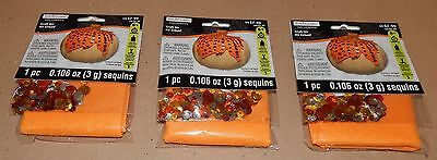 Halloween Kids Craft Kits 3pks Felt & Sequins Pumpkin Covers 6+ Creatology - Kids Halloween Craft