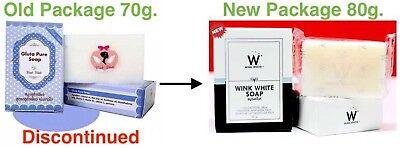 3 WINK WHITE ORIGINAL Gluta PURE Soap Whitening Body face Lightening - White Pure Soap