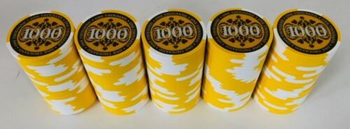 (100) $1000 PAULSON ELITE POKER CHIPS