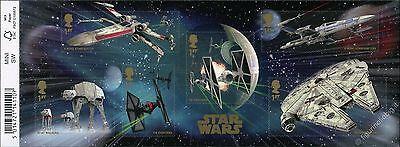 Star Wars - Veicoli Spaziali - Mini Foglio con codice a barre Gran Bretagna 2015