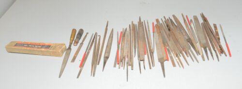 50 small jewelers files Swiss pattern Nicholson & more collectible machinist lot