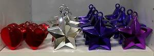 LOT of Purple Silver Star Shape Balloon Weights Parties Weddings South Windsor Hawkesbury Area Preview