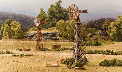 Windmills   N Scale Pre Fab Landmark Structure   Woodland Scenic Pf5213