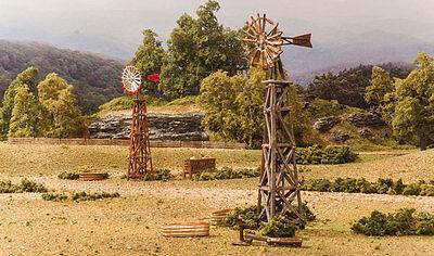 Windmills   N Scale Pre Fab Landmark Structure   Woodland Scenic Pf5213