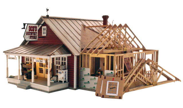 Woodland Scenics BR5845 O Scale, Built & Ready w/Lights, Country Store Expansion