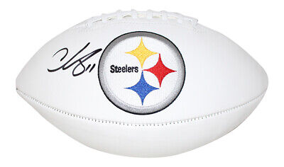 Ike Taylor Pittsburgh Steelers ORGINAL Autographed football with 6 Stars!! Bryant McFadden Charlie Batch