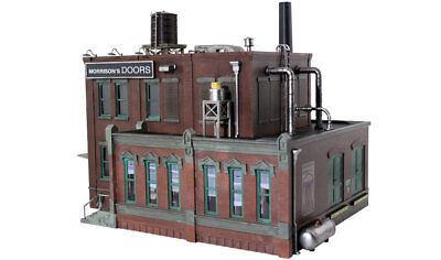 Woodland Scenics BR5848 O Scale Morrison's Door Factory, Built & Ready Structure, used for sale  Taunton