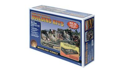 Woodland Scenics S1487, HO Scale, River Pass Building, 15 Building Kits & More