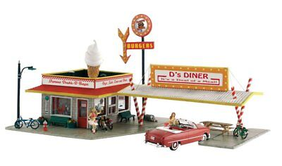 Woodland Scenics Pf5188  Ho Scale  Pre Fab Kit Landmark Structures  Ds Diner