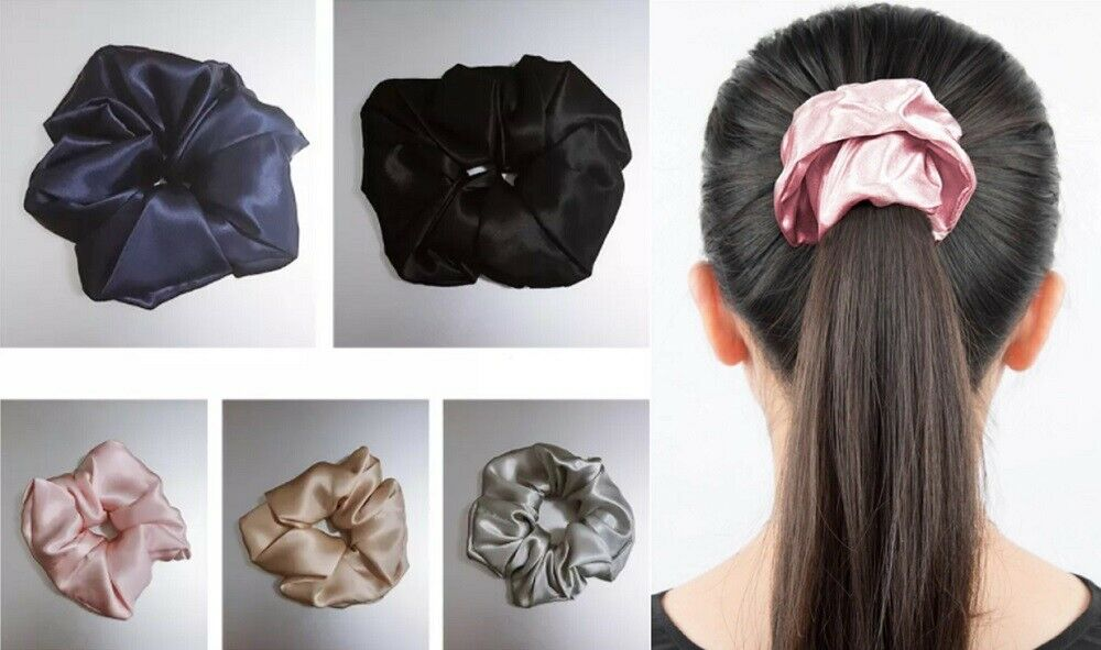 5 Pcs Velvet Scrunchies For Hair, Hair Scrunchie Hair Elastics Ponytail Holder Clothing, Shoes & Accessories