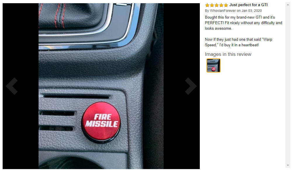 Fire Missile Button Car Cigarette Lighter 12V Replacement Accessory Red NEW - $19.50