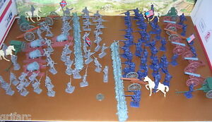 111 Pieces Civil War Armymen Cannons Soldier Set, Fences, Siege Mortar Cannons