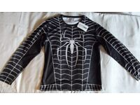 Spiderman black long sleeved Superhero top* Mens XL* New with tags *