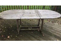 Large Solid Wood Outside Dining Table