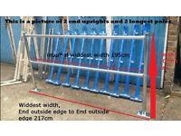 Retail Shop customer crowd guidance partition barrier balustrade handrail joblot
