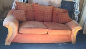Big orange sofa