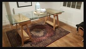 Vintage Habitat Glass Dining Table (£350 New)