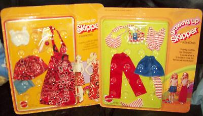 Lot of 2 RARE 1975 Growing Up Skipper Doll Fashions MOC