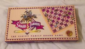 Classic Family Board Game SNAKES AND LADDERS. David Halsall. 2-5 Players.