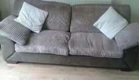 Brown 3 seater sofa, buyer must collect. £60
