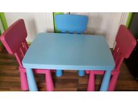 Childrens Ikea 2 x pink chairs