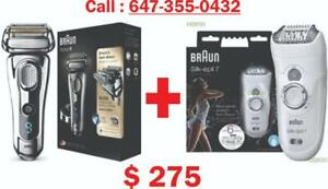 Braun series 9 - 9293S Shaver + Silk-epil 7 7-561 Combo Offer