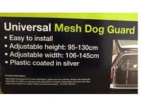 Sakura Universal Car Silver Mesh Dog Guard to fit most hatchback, estate and 4x4 vehicles.