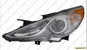 Head Lamp Driver Side Chrome Bazel (Se/Ltd) Hyundai Sonata 2011-2014