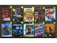 10x Original XBOX games including Halo, Halo 2, Monkey Ball, DOA3 etc