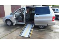 Kia Sedona upfront wheelchair accessible vehicle or convert to mini camper van