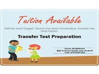 Transfer Test tutoring available