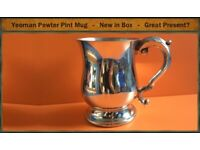 Brand New Pint Mug by Yeoman Pewter - Original Box - £30, or SWAP
