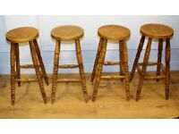 4 available Antique stool industrial kitchen retro seating wooden school old elm farmhouse bar chair