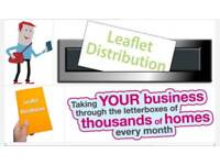 Professional Leaflet Distributors - From only £30 per 1000 Leaflets.