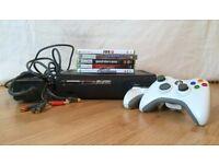Xbox 360 Elite, 2 Wireless Controllers, 5 games