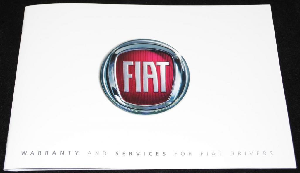 General Fiat Service History Warranty Book Manual New and Genuine 60395957,,,,